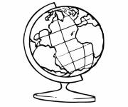Coloring pages Earth map