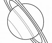 Coloring pages Fat Planet Saturn