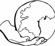 Coloring pages Globe