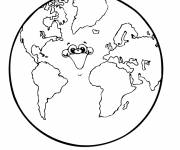 Coloring pages Laughing Planet Earth