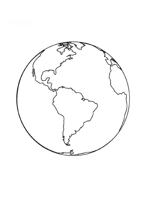 Free coloring and drawings Maternal planet earth Coloring page