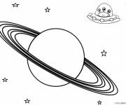 Coloring pages Planet and the Aliens