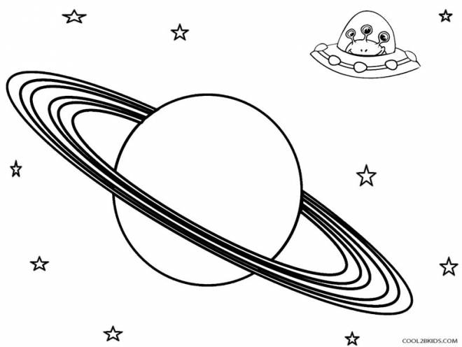 Free coloring and drawings Planet and the Aliens Coloring page