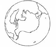 Coloring pages Planet Earth in black and white