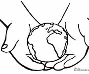 Coloring pages Planet Earth to be colored