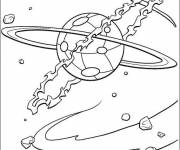 Free coloring and drawings Planet for children Coloring page