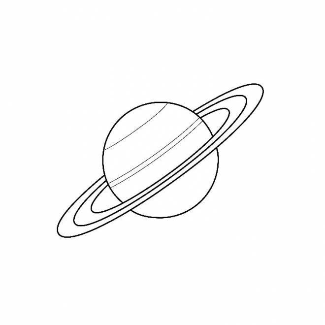 Free coloring and drawings Planet Saturn Coloring page