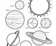 Free coloring and drawings Planets and color solar system Coloring page