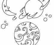 Coloring pages Planets and the universe