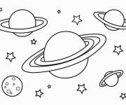 Free coloring and drawings Planets in the Cosmos Coloring page