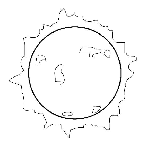 Free coloring and drawings Shining star Coloring page