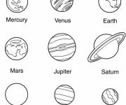 Free coloring and drawings The planets of the solar system Coloring page