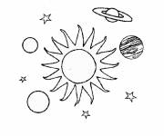 Free coloring and drawings The solar system Coloring page