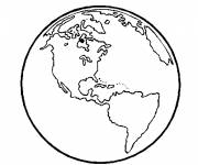 Coloring pages Vector planet earth