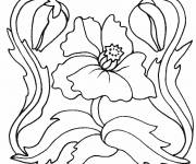 Coloring pages Artistic Poppy