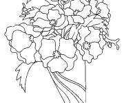 Coloring pages Bouquet of Poppy