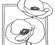 Coloring pages Easy poppy
