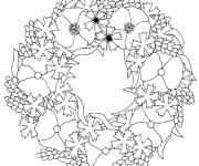 Coloring pages Mandala poppy