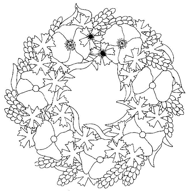 Free coloring and drawings Mandala poppy Coloring page