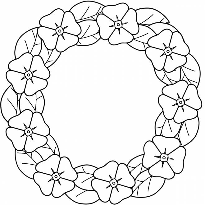 Free coloring and drawings Poppy chain Coloring page