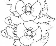 Coloring pages Poppy in front