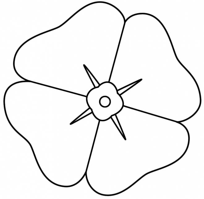 Free coloring and drawings Poppy Petals Coloring page
