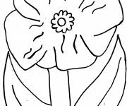 Coloring pages Poppy simple to cut