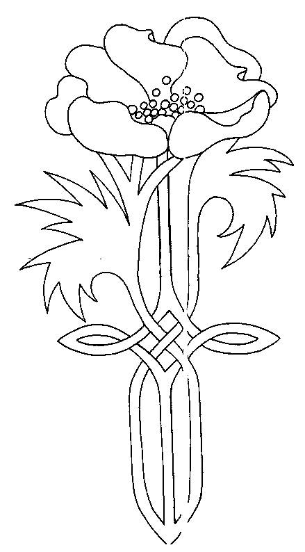 Free coloring and drawings Symbol poppy Coloring page