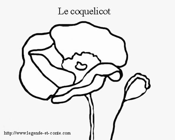 Free coloring and drawings The Poppy Coloring page