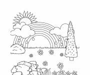 Coloring pages After rain the good weather