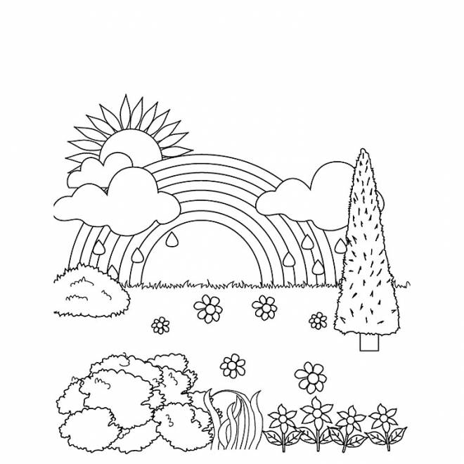 Free coloring and drawings After rain the good weather Coloring page