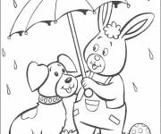 Free coloring and drawings Animals and Rain Coloring page