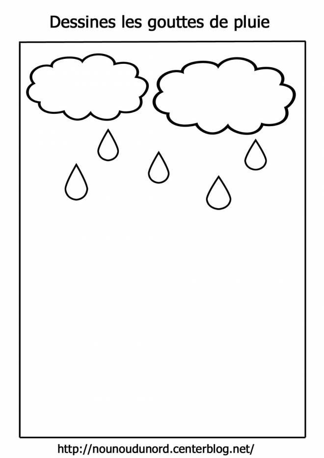 Free coloring and drawings Clouds and Rain Coloring page