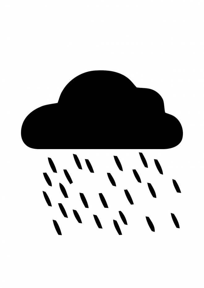 Free coloring and drawings Clouds in black Coloring page