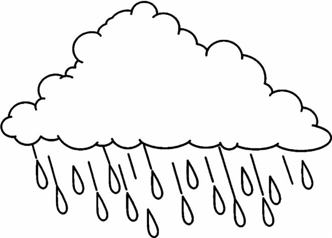 Free coloring and drawings Easy rain Coloring page