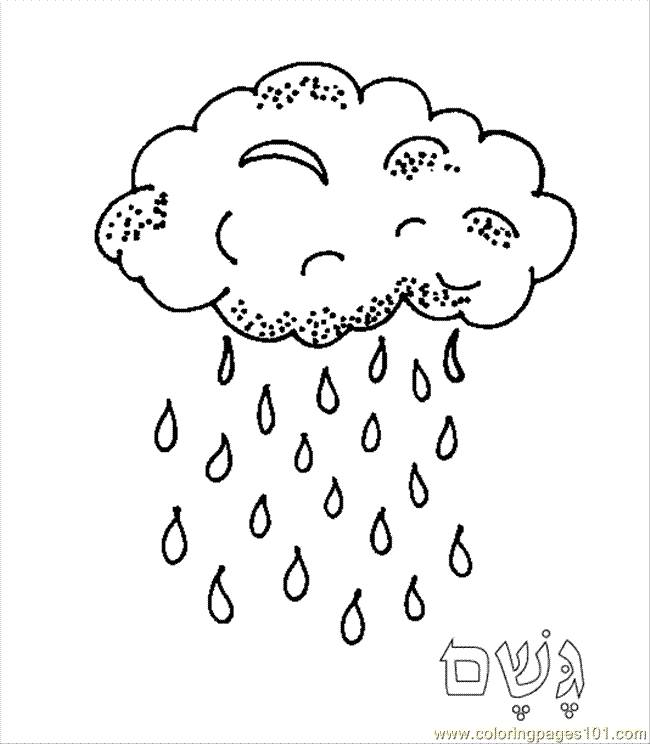 Free coloring and drawings Falling rain Coloring page