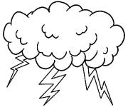 Coloring pages Lightning rain