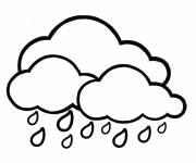 Free coloring and drawings Maternal rain Coloring page