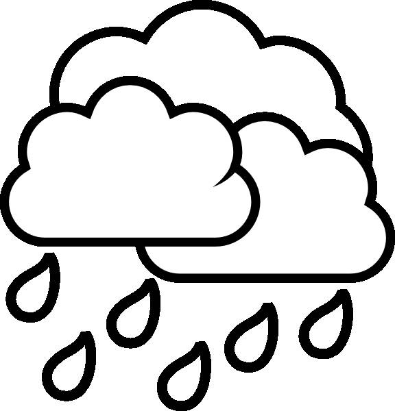 Free coloring and drawings Rain in black Coloring page