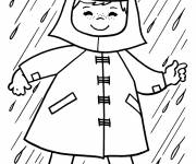 Free coloring and drawings Rain in winter Coloring page