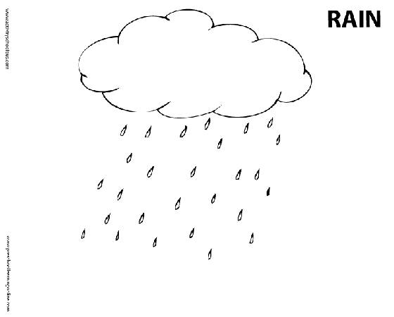 Free coloring and drawings Rain to download Coloring page