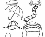 Coloring pages Rainwear