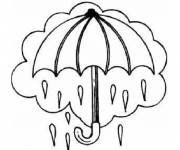 Coloring pages The color umbrella