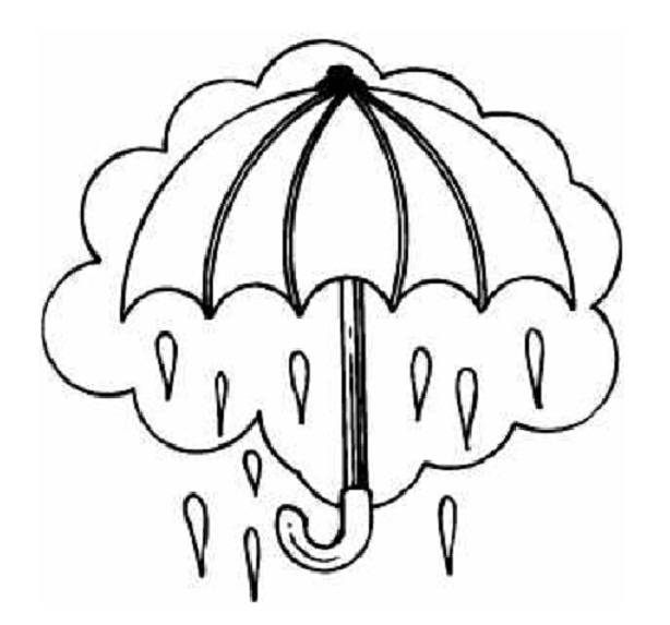 Free coloring and drawings The color umbrella Coloring page