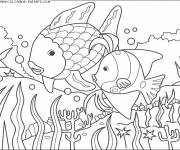 Free coloring and drawings Fish to color online Coloring page