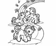 Free coloring and drawings Maternal rainbow Coloring page