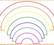 Coloring pages Rainbow color in order