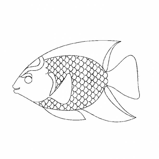 Free coloring and drawings Tropical fish Coloring page