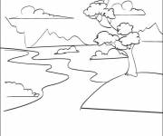 Coloring pages Maternal river