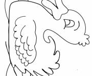 Coloring pages The Duck on the River